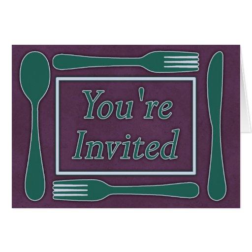 Usted es trullo invitado de la púrpura real de los tarjeta de felicitación
