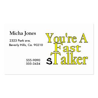 Usted es un acosador rápido tarjetas de visita