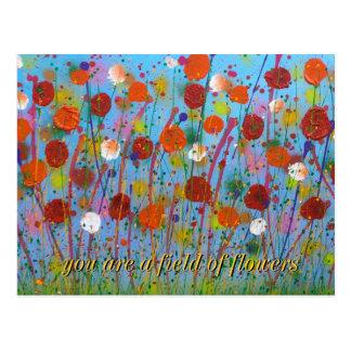 usted es un campo postal de las flores