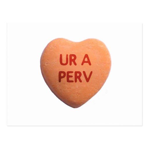 Usted es un corazón anaranjado del caramelo de Per Postales