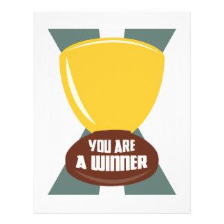Usted es un ganador plantilla de membrete