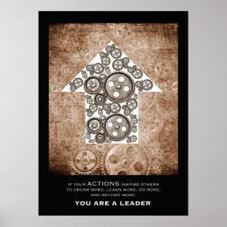 Usted es un líder póster