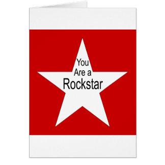 Usted es un Rockstar Tarjeta De Felicitación