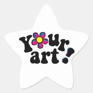 ¡Usted es una estrella! Cree a su propio pegatina