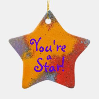 ¡Usted es una estrella Ornamento de la estrella c Ornamento Para Reyes Magos