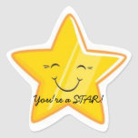 ¡USTED es UNA ESTRELLA!!! Calcomanía Forma De Estrella Personalizadas