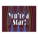 ¡Usted es una estrella! Postal