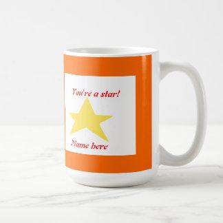 Usted es una estrella que las tazas añaden nombre