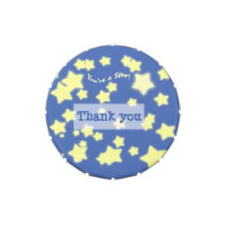¡Usted es una estrella! w/Message - pequeña lata Jarrones De Caramelos