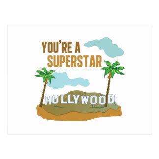 Usted es una superestrella postales