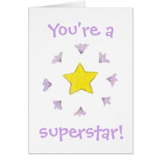 Usted es una tarjeta de cumpleaños de la