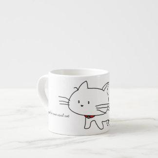 Usted es una taza fresca del café express del gato