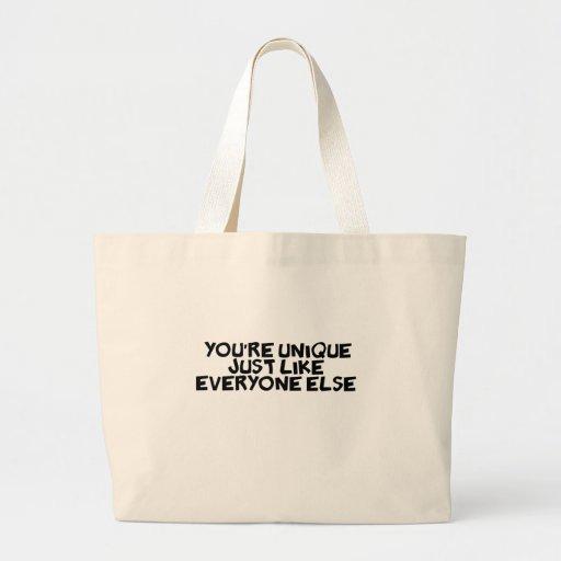 usted es único apenas como cada uno bolsa