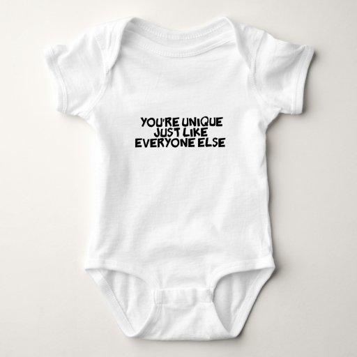 usted es único apenas como cada uno tshirt
