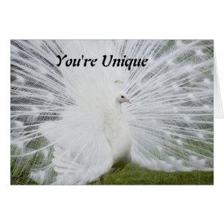 Usted es único tarjeta de felicitación