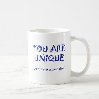 Usted es único taza básica blanca