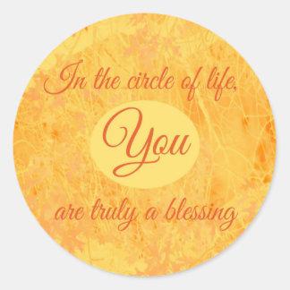 Usted es verdad una bendición pegatina redonda