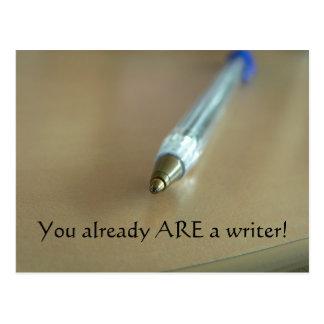¡Usted ES ya escritor! (con la pluma) Postales