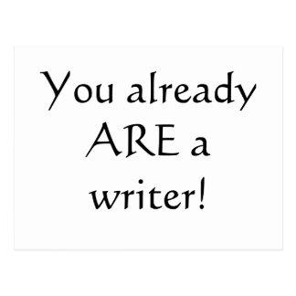 ¡Usted es ya escritor! Tarjeta Postal
