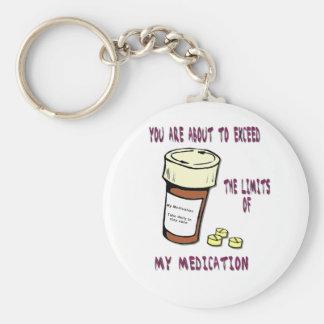 Usted está a punto de exceder límite de mi medicac llaveros personalizados