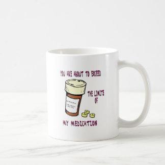 Usted está a punto de exceder límite de mi medicac taza de café