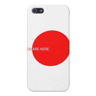 Usted ESTÁ aquí logotipo cerca: David Lee iPhone 5 Carcasa