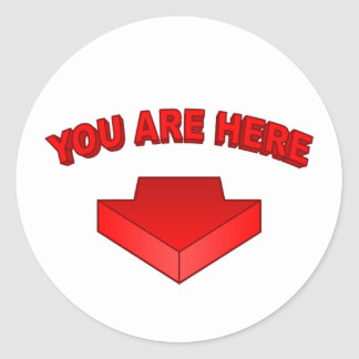 Usted está aquí - pegatina redonda