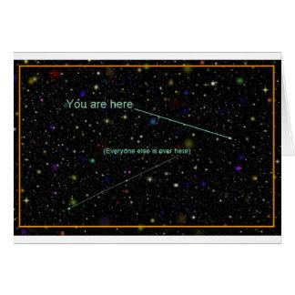 """""""Usted está aquí"""" tarjeta de felicitación"""