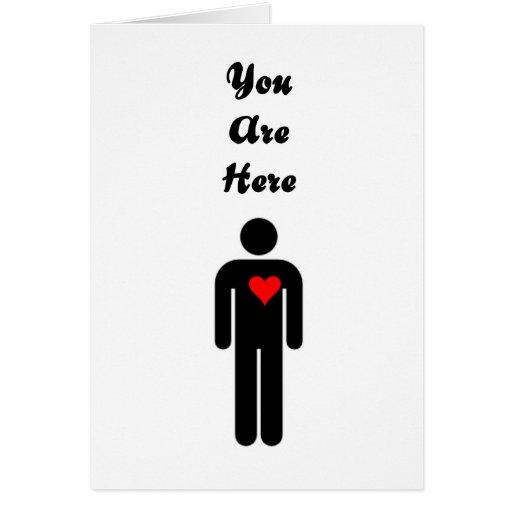 Usted está aquí tarjeta de la tarjeta del día de S