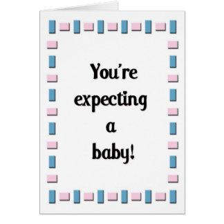 ¡Usted está contando con a un bebé! Felicitación
