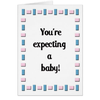 ¡Usted está contando con a un bebé! Tarjeta De Felicitación