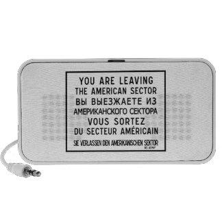 Usted está dejando el sector americano, muestra de portátil altavoces