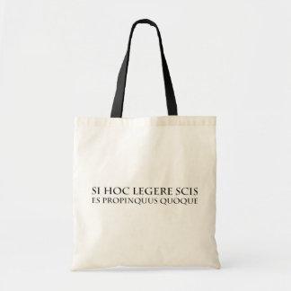 Usted está demasiado cercano bolsa lienzo