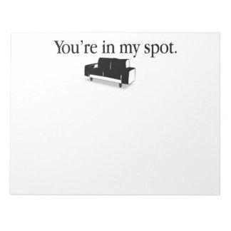 Usted está en mi punto blocs de papel
