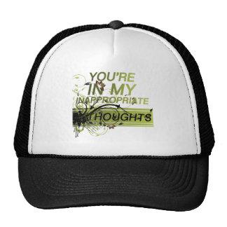 Usted está en mis pensamientos inadecuados gorras de camionero