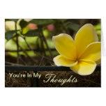 Usted está en mis pensamientos tarjeta