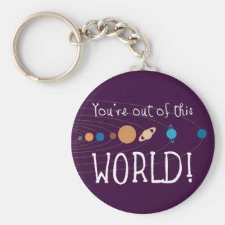 ¡Usted está fuera de este mundo Llavero Personalizado
