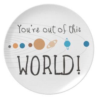 ¡Usted está fuera de este mundo! Platos Para Fiestas