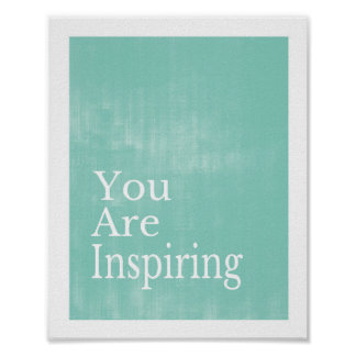 Usted está inspirando el poster póster