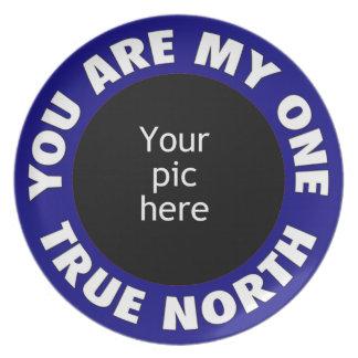 Usted está mi un norte verdadero plato de cena