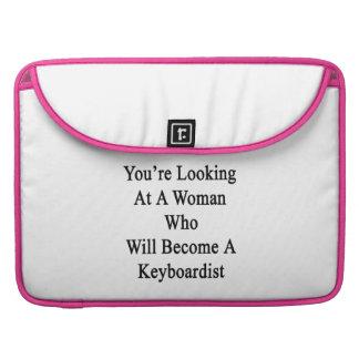 Usted está mirando a una mujer que haga un Keyboa Funda Para Macbooks