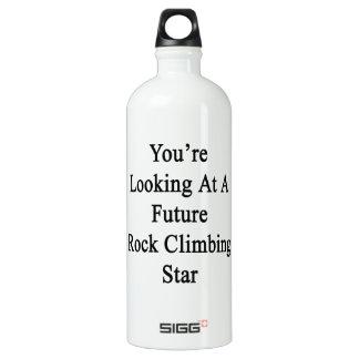 Usted está mirando una estrella futura de la