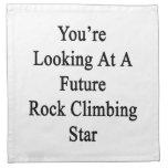 Usted está mirando una estrella futura de la escal servilleta