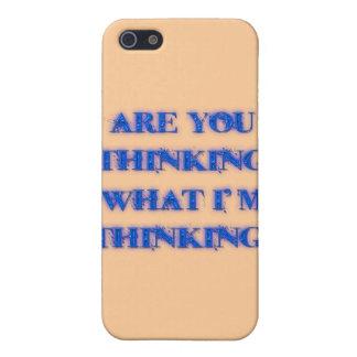 ¿Usted está pensando lo que estoy pensando? azul iPhone 5 Funda