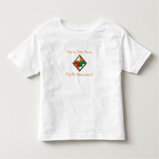 Usted está solamente aquí… camisetas