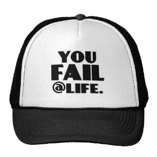 Usted falla el Life Gorros Bordados