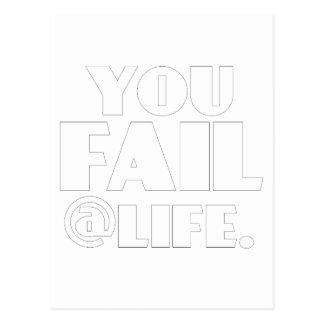 Usted falla el @Life Tarjetas Postales