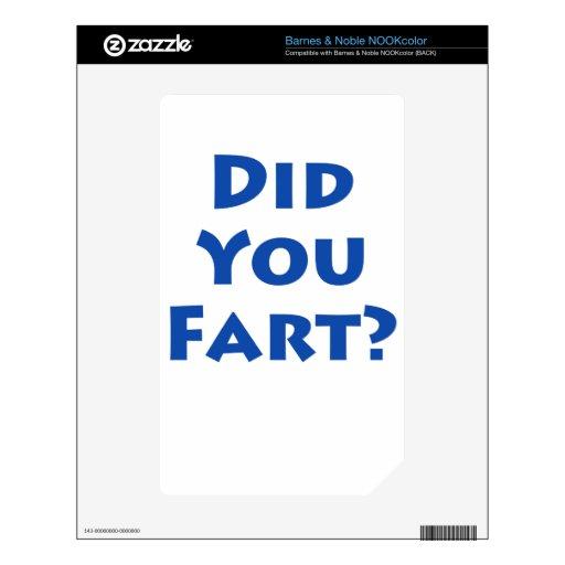 ¿Usted fart? Calcomanías Para El NOOK Color