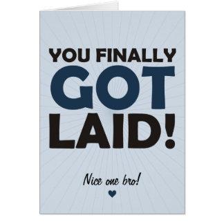 Usted finalmente consiguió puesto tarjeta de felicitación