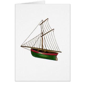 Usted flota mi barco del vintage tarjeta de felicitación
